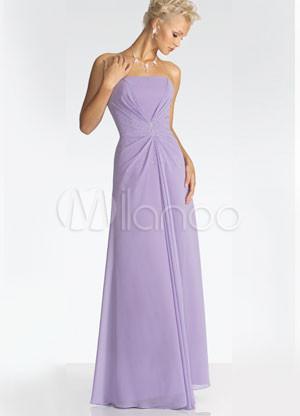 Bustier en mousseline de soie lilas soir e robe longue for Meilleurs concepteurs de robe de mariage de plage