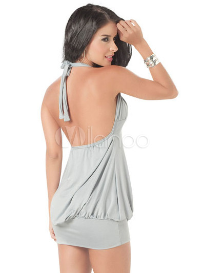 Claudia Alvarez Culo y Pezones Marcados en Vestido de