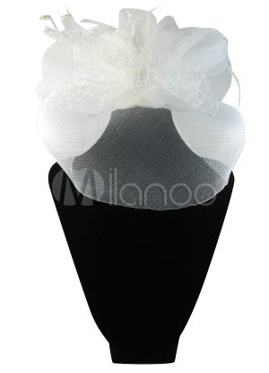 Elegant White Bow Wedding Bridal Veil