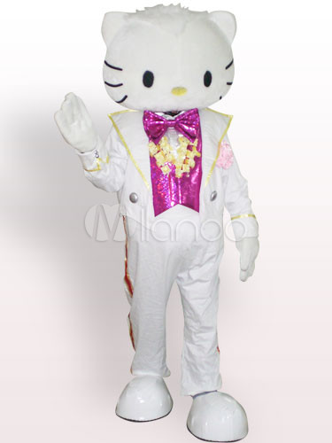 Female Hello Kitty in Wedding Dress Adult Mascot Funny Costume