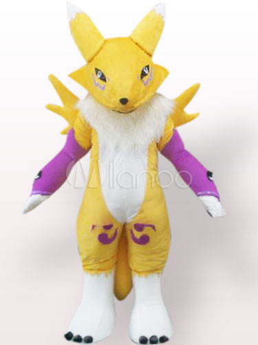 Yellow Digimon Frontier Plush Adult Mascot Costume