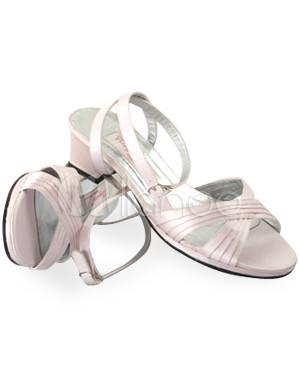 schicke damen sandalen mit blockabs ten f r hochzeit in rosa. Black Bedroom Furniture Sets. Home Design Ideas