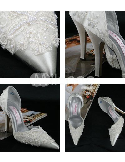 Ivory Lace Wedding Shoes on De Tac  N De Marfil Apliques De Encaje Zapatos De Plataforma
