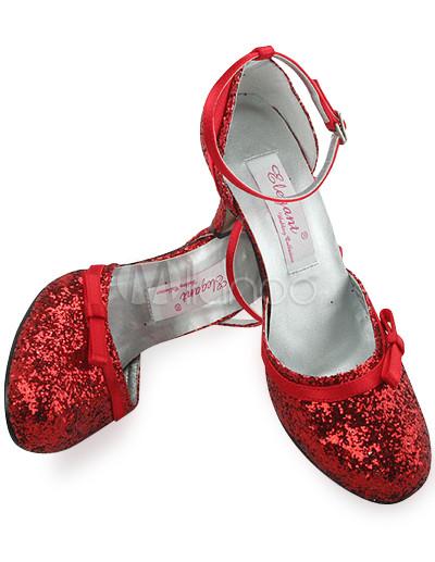 Ankle Strap Wedding Shoes on Shinny Belle Rouge 3 1   2  Sangle Talon Cheville Ruban Chaussures De