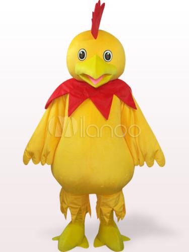 Gelb Big Chicken mit Schnabel Plüsch Erwachsenen Maskottchen Kostüm