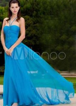 длинное платье на выпускной плиссе