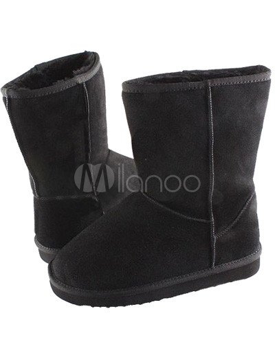 Cheap Fashion Accessories  Women on Black Women Fashion Snow Boots   Milanoo Com