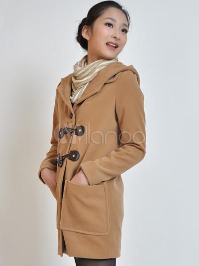 komfortable camel wolle damen mantel. Black Bedroom Furniture Sets. Home Design Ideas