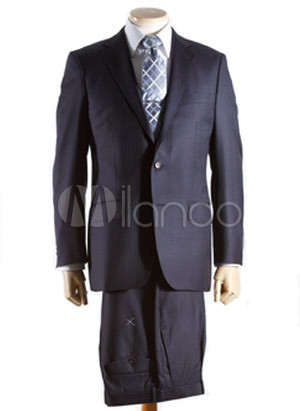 Navy Blue Maxi Dress on Graceful Navy Blue Single Breasted Double Button Lapel Wool Groom