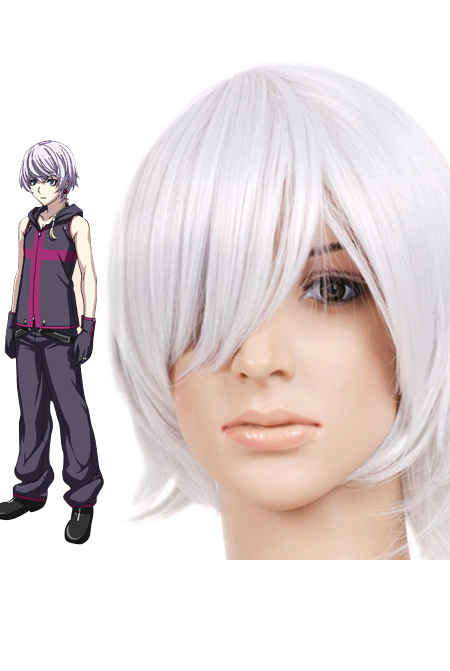 Silver Gray 35cm The Qwaser of Stigmata Sasha Nylon Cosplay Wig