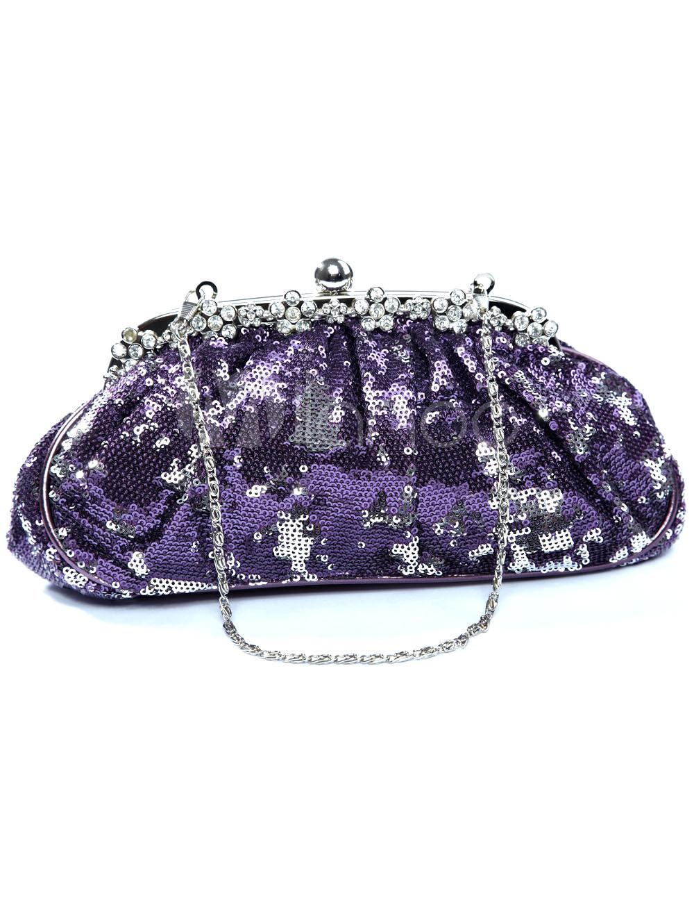 Gorgeous 25*12cm Brocade Sequin Ladies Special Occasion Handbag