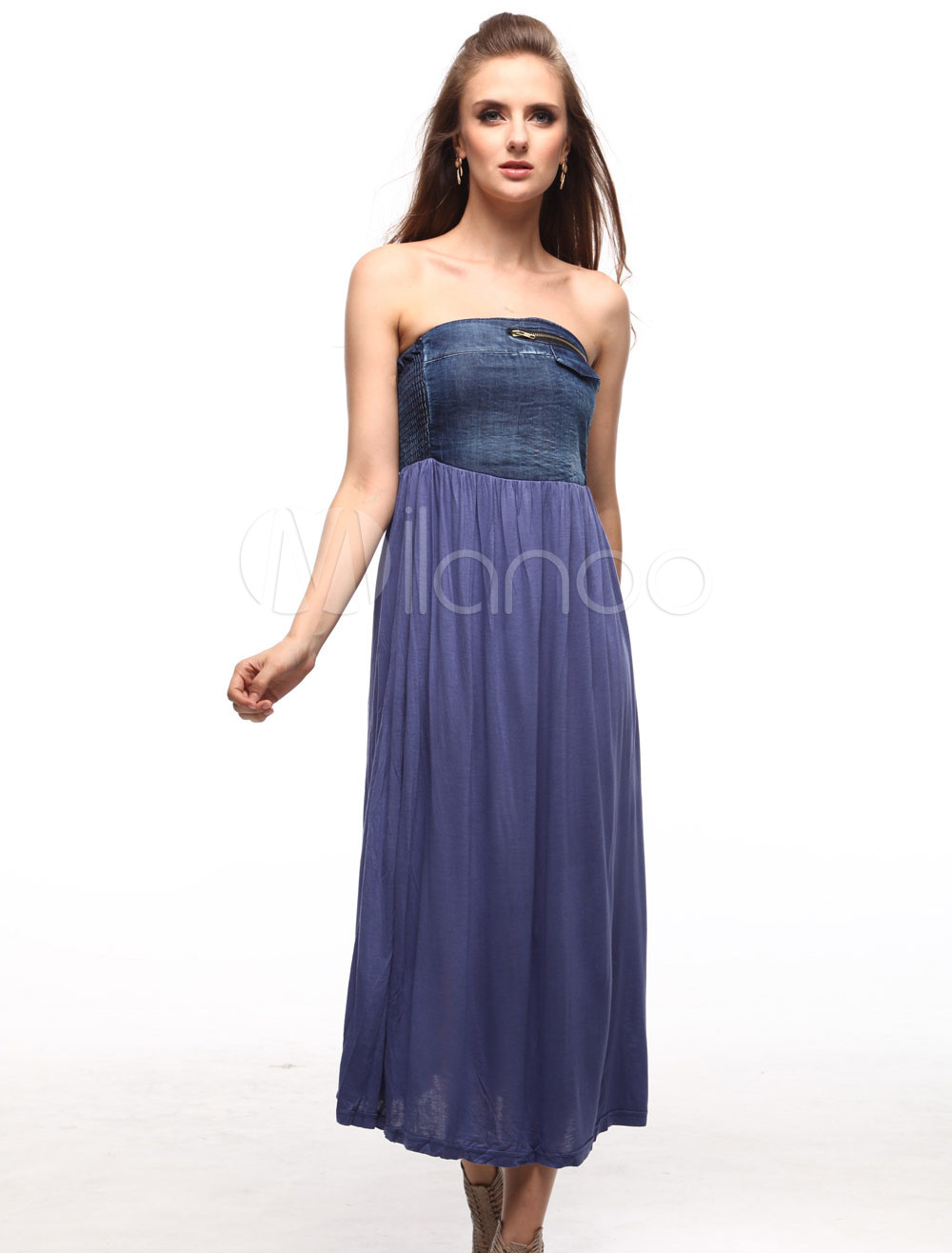 Fashion Blue Jeans Womens Summer Dress