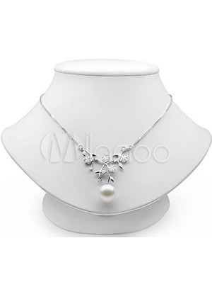 Elegant S925 10 10.5鑴?/5.5 6鑴?/5 5.5鑴?mm White Fresh Water Pearl Womens Pearl Necklace