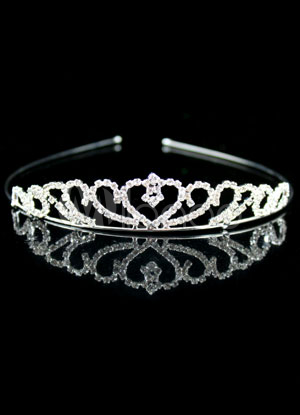 Gorgeous Silver Alloy Rhinestone Wedding Bridal Tiara