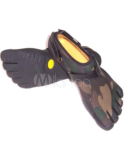 Fashionable Brown PU Rubber Sole High Cut Mens Fivefinger Shoes
