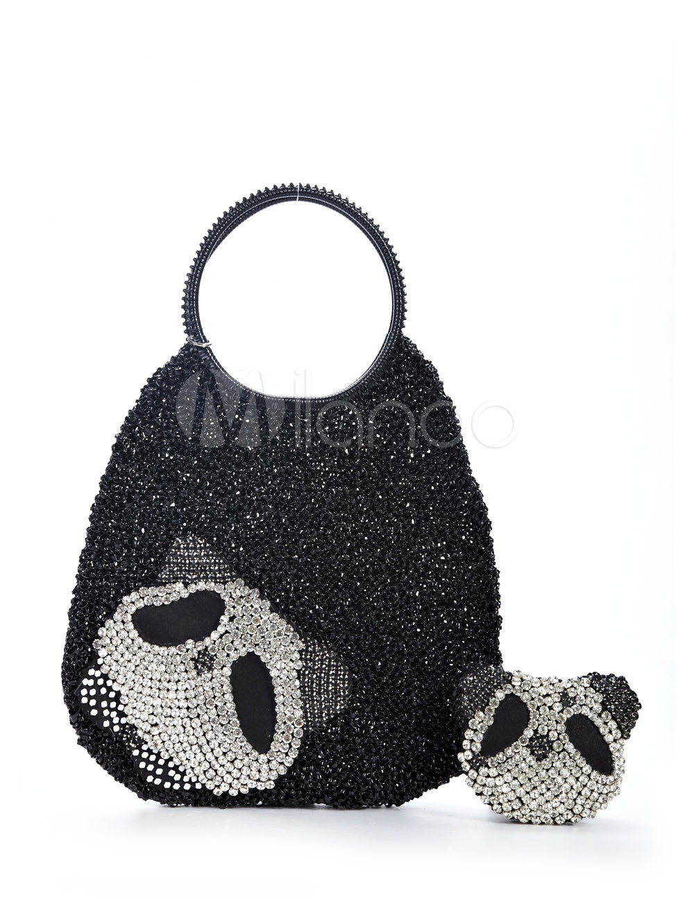Cute Black Rubber 32*5*33cm Womens Tote Handbag
