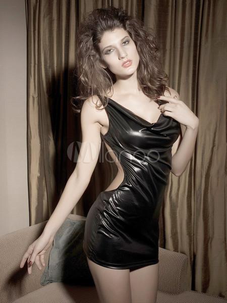 Sexy Black Acrylic Womens Lingerie