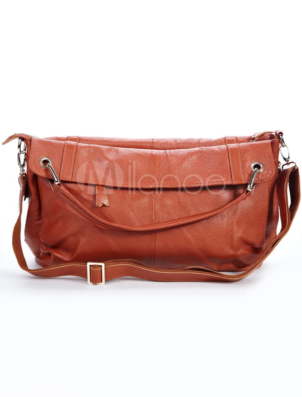 Fabulous Wheat Cowhide Tote Handbag For Ladies