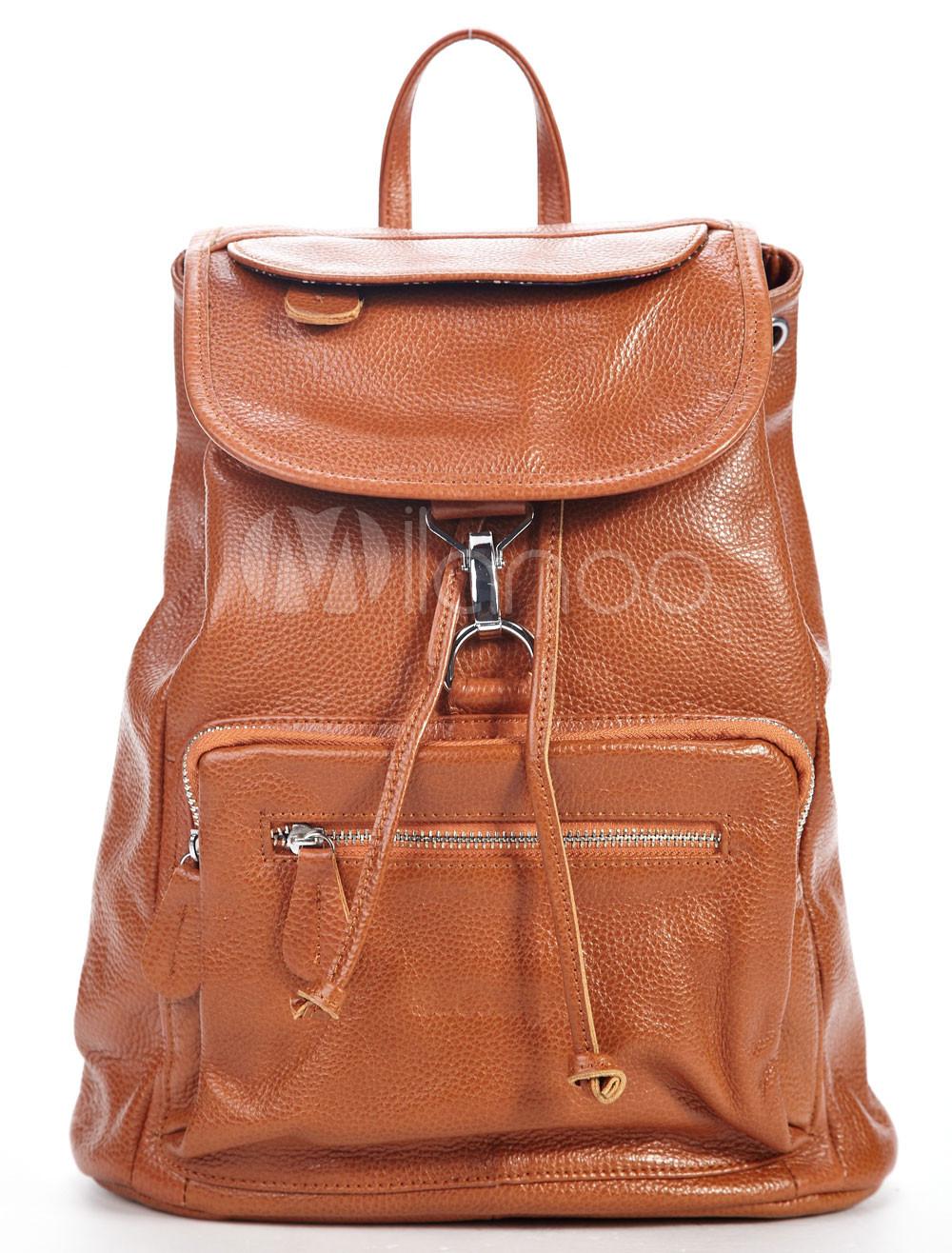 Glamorous Wheat Cowhide 33*13*35cm Satchel Handbag For Ladies