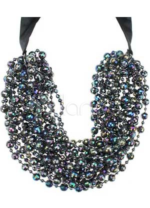 Quality Black Beaded Ladies Fashion Necklace