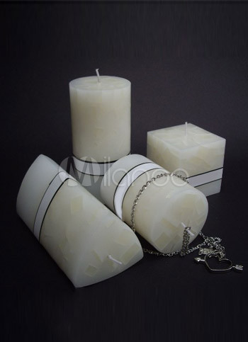 4 Pieces Fabulous Ivory Ecologic Wax Scented Candles