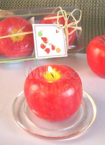 2 Piece 7*22cm Fantastic Red Ecologic Wax Craft Candles