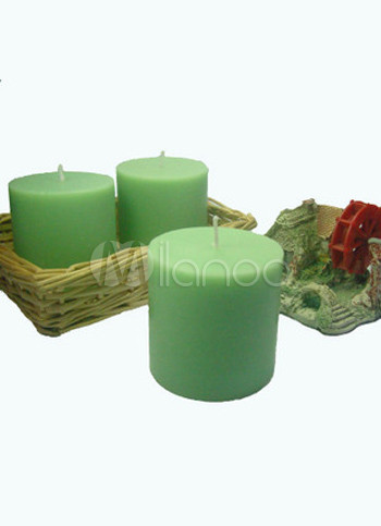 Light Green Fashion 7.5*7.5cm Ecologic Wax Smokeless Candle