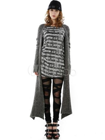 Moderne graue Cony Haar Rayon Damen Schal