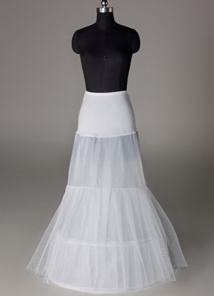 Fashion White Lycra Mermaid and Trumpet Bridal Wedding Petticoat $19.99 AT vintagedancer.com