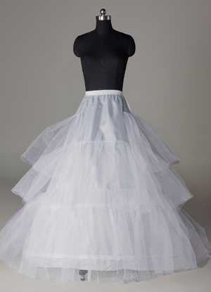 White 90cm Lining Net Tail Bridal Wedding Petticoat $24.99 AT vintagedancer.com