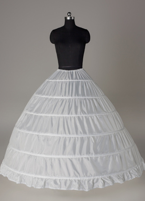 White 90cm Luxurious Lining Bridal Wedding Petticoat $19.99 AT vintagedancer.com
