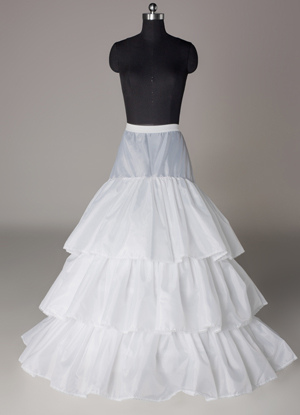 White 90cm Multi-Layer Tail Lining Bridal Wedding Petticoat $27.99 AT vintagedancer.com