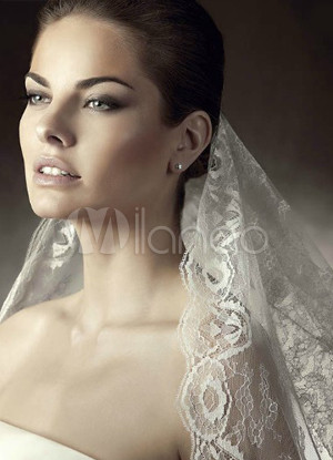 White 150*150cm Lace Bridal Wedding Veil