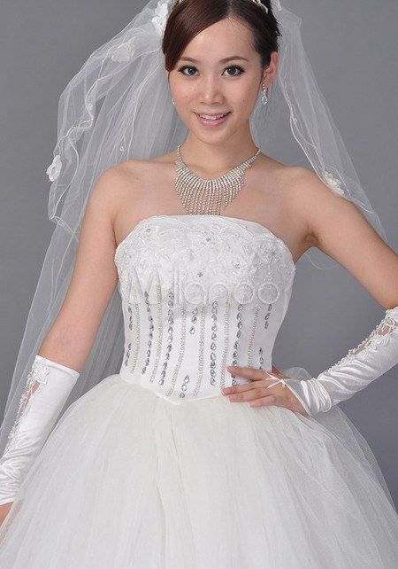 White 180*150cm Net Yarn Bridal Wedding Veil