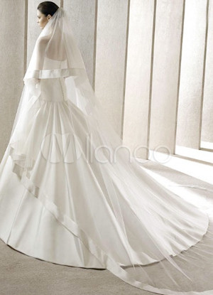 Elegant 300*200cm White Gauze Bridal Wedding Veil