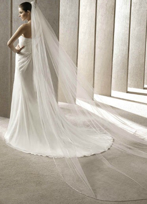 Concise 300*200cm White Gauze Bridal Wedding Veil