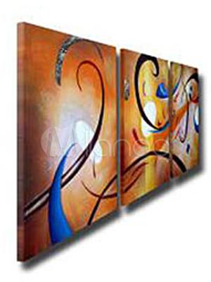 farbenfrohes gl ck leinwand lgem lde abstrakt 3 teilig. Black Bedroom Furniture Sets. Home Design Ideas