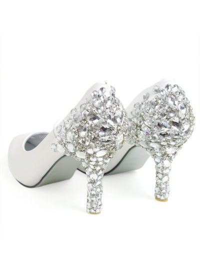 Wedding Shoes Bridal on Leather Rhinestone Decoration Wedding Bridal Shoes   Milanoo Com