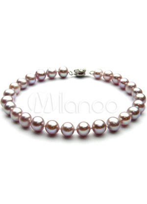 Excellent Purple 16cm AA Freshwater Pearl Silver Plating Bracelet