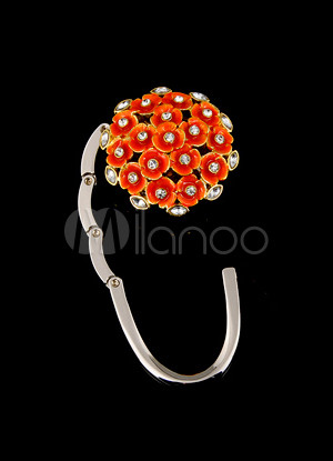 35mm Sweet Orange Znic Swarovski Crystal Rhinestone Purse Hanger