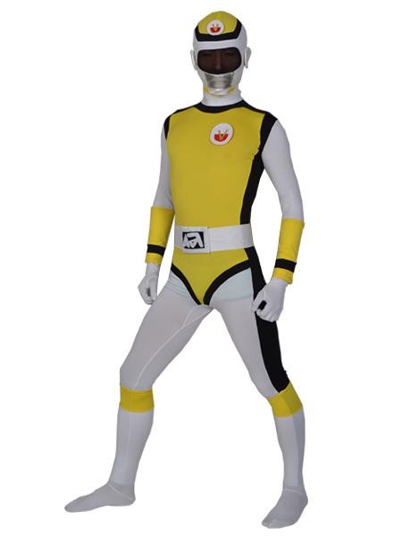 Yellow Lycra Zentai Mens Suit