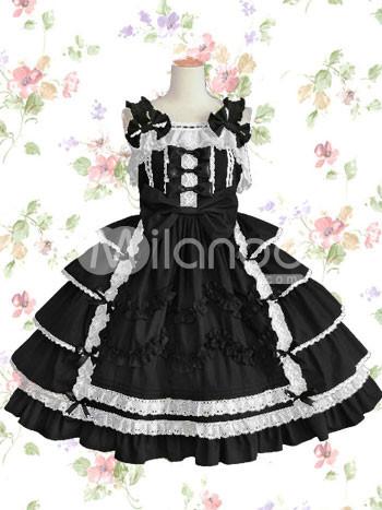 White Cotton Dress on Cat  Gorie    Lolita Specials   Robes Lolita   Gothic Lolita Dresses