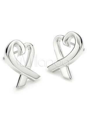 Milanoo UK  Unique White 925 Silver Earring For Women