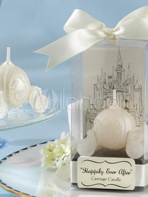 4.5*3*3.5cm White Castle Carriage Environment Friendly Wax Candles