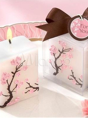 5*3.5*5.5cm Romantic Sakura Environment Friendly Wax Candles