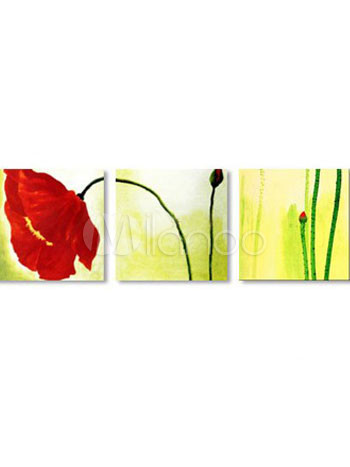 Attractive Canvas60*60cm*3 Hand-made Rimless Oil Flower Painting