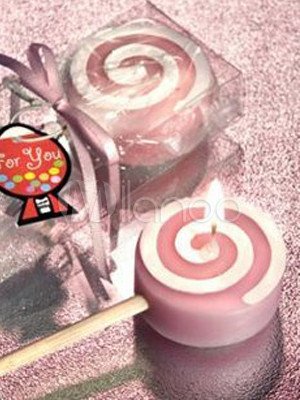 Attractive Sweet Pink Lollipop 50*22*120mm Candles