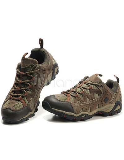 Comfortable Brown Wearable Breathable Quality Cowhide Mens Athletic Shoes