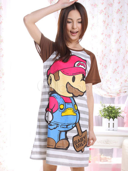 [Roll]Gran Onee-San~ Popular-Sweet-Chocolate-Cotton-Womens-Pajama-54507-1