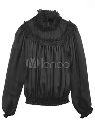 Women'S Cotton Long Sleeve Blouse 34